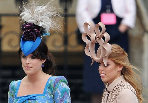 british royal wedding guests with bizarre hats